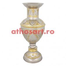 Vaza flori aurita si argintata (37 cm) cod P76-140GN37